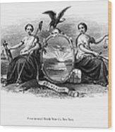 Seal Of New York, 1870 Wood Print