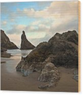 Seal Rock Oregon Wood Print