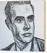 Sean Connery Wood Print