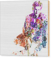 Sean Penn Wood Print by Naxart Studio