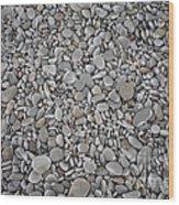 Seashore Rocks Wood Print