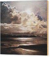 Seaside Cloudscape Wood Print