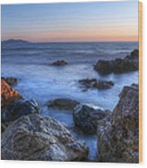 Seaside Rocks Wood Print