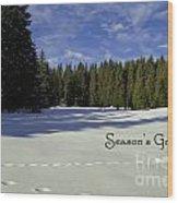 Season's Greetings Austria Europe Wood Print