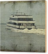 Seastreak Catamaran - Ferry From Atlantic Highlands To Nyc Wood Print