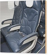 Seats On An Airliner Wood Print
