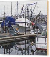 Seattle Fishermans Terminal Wood Print