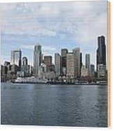 Seattle From The Water Wood Print