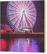 Seattle Great Wheel 2 Wood Print