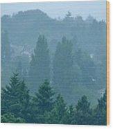 Seattle Morning Fog Wood Print