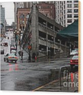 Seattle Parking Garage Orig Wood Print