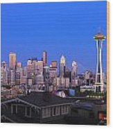 Seattle Skyline 3 Wood Print