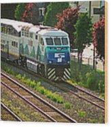 Seattle Sounder Train Wood Print
