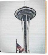 Seattle Strikes Wood Print