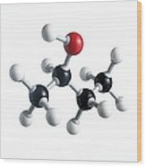 Sec-butanol Molecule Wood Print