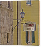 Secluded Restaurant Of Tuscany Wood Print