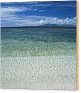 Secluded White Sands Beach Wood Print