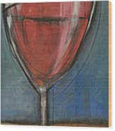 Second Glass Of Red Wood Print by Tim Nyberg