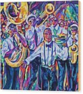 Second Line Wood Print