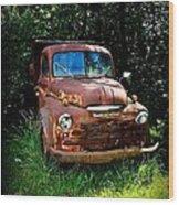 Second Vintage Dodge Truck Wood Print