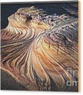 Second Wave At Dusk Arizona Sandstone Wonder Wood Print