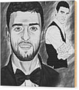 Secret Agent Justin Timberlake Wood Print by Kenal Louis