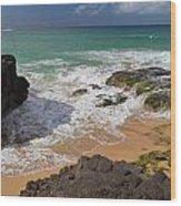 Secret Beach Kauai Wood Print