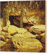 Secret Cave Wood Print by Miguel Capelo