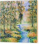 Secret Rivers Wood Print
