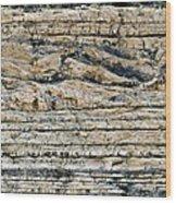 Sedimentary Rock Slumping Wood Print