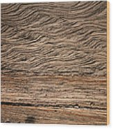 Sedimentary Structures In Sand Beds Wood Print