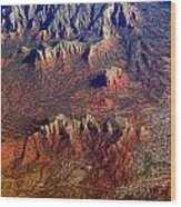 Sedona Arizona Planet Earth Wood Print
