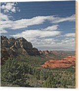 Sedona Arizona Vista Wood Print
