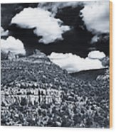 Sedona Clouds Wood Print
