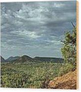 Sedona From The Top Of Jordan Trail Wood Print
