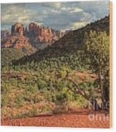 Sedona Red Rock Viewpoint Wood Print