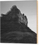 Sedona Rock Zoom Wood Print