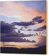 Sedona Summer Storms Wood Print