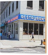 Seinfeld Diner Location Wood Print
