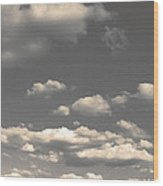 Selenium Clouds Wood Print