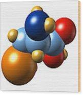 Selenocysteine, Molecular Model Wood Print