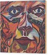 Self Portrait - Map Of Life Wood Print