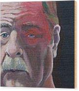 Self Portrait With Shingles Wood Print