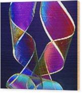 Sellotape, Light Micrograph Wood Print