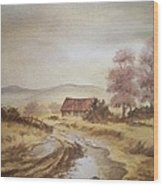 Selo Poslije Kise Wood Print