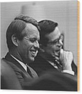 Sen. Robert Kennedy And Ted Sorenson Wood Print by Everett