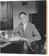Senator Gerald P. Nye 1892�1971 U.s Wood Print by Everett