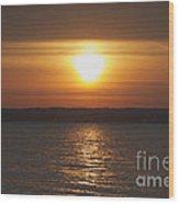 Seneca Lake Sunrise Wood Print