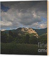 Seneca Rocks At Evening Wood Print