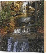 Seneca Water Falls  Wood Print